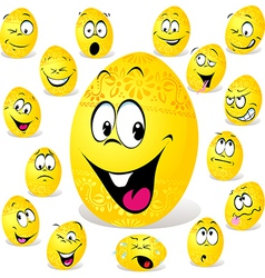 Funny easter egg cartoon vector