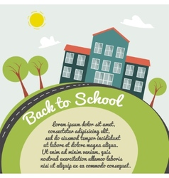 On back to school background vector