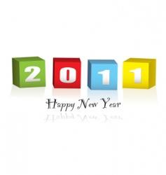 new year wood blocks 2011 vector image