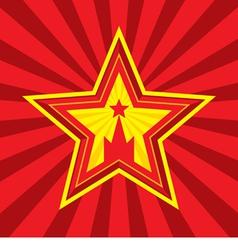 Star with kremlin symbol symbol vector