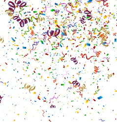 Colorful Confetti Background vector image