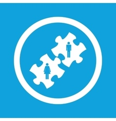 People puzzle sign icon vector