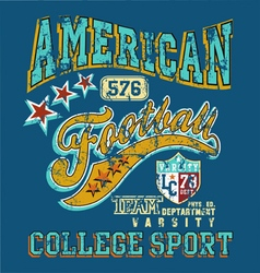 American football college sport crack vector