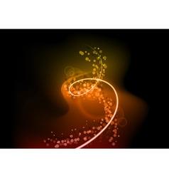 Orange spiral vector