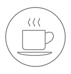 Cup of hot drink line icon vector