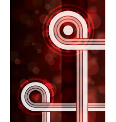 Red tech abstract background vector