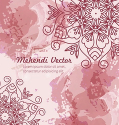 Mandala watercolor background vector