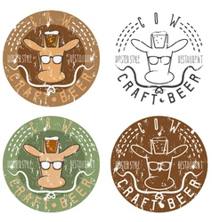 Cow craft beer hipster style restaurant negative vector