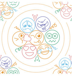 background in the form of an smiles vector image