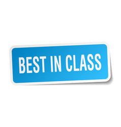 Best in class square sticker on white vector