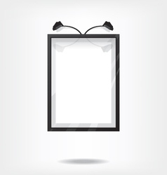 Black frame on wall vector