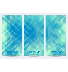 Blue set of flyers background with light vector