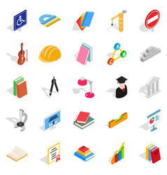board icons set isometric style vector image