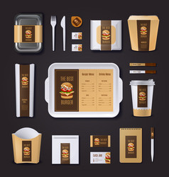 Burger Bar Corporate Identity vector image
