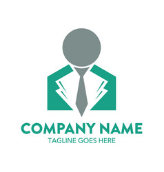 businessman logo-8 vector image