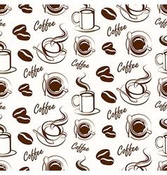 coffee seamless3 vector image vector image