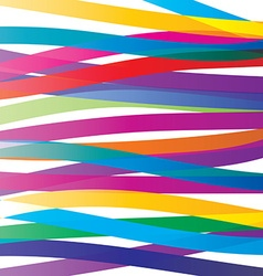 Colorful overlay ribbons abstract background vivid vector