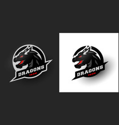 dragon sport logo two options vector image