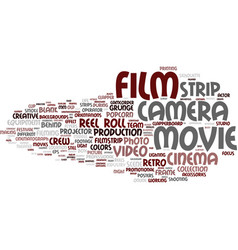 film word cloud concept vector image vector image