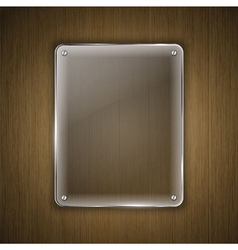 glass on wood vector image vector image