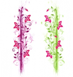 green and violet floral ornament vector image vector image