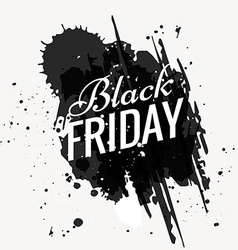 grunge black friday design vector image vector image