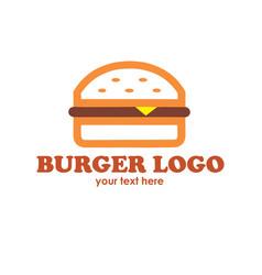 hot burgers logo vector image vector image