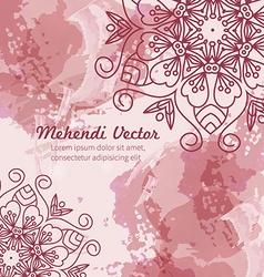 Mandala watercolor background vector