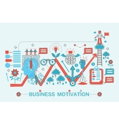 Modern Flat thin Line design Business motivation vector image vector image