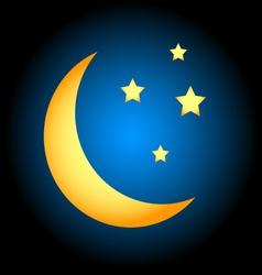 Moon symbol vector image