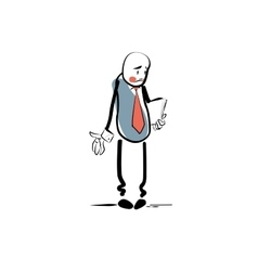 Sad businessman business concept failure vector