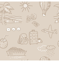 Seamless background Sketch traveling pattern vector image vector image