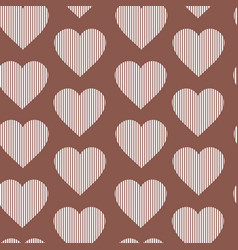 seamless pattern hearts vintage valentines day vector image vector image