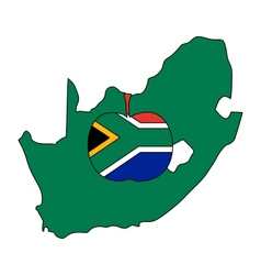South african apple vector
