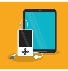 Tablet and mp3 design vector