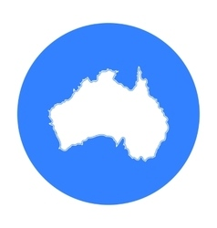 Territory of australia icon in black style vector