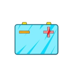 Car battery icon in cartoon style vector