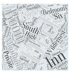 Wildernest inn word cloud concept vector