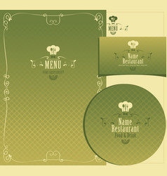 set of design elements for a cafe or restaurant vector image