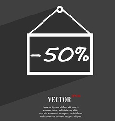 50 discount icon symbol flat modern web design vector