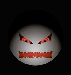 Halloween evil face with a toothy maw clarified vector