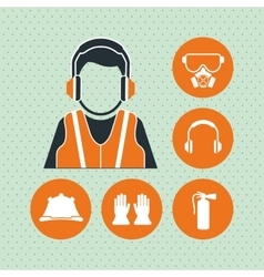 Industry security supplies design vector