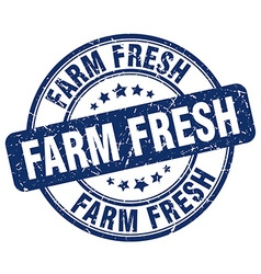 Farm fresh stamp vector