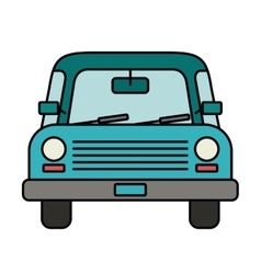 Car drawing front isolated icon design vector