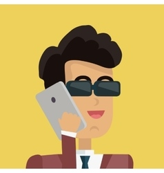 Young businessman avatar vector