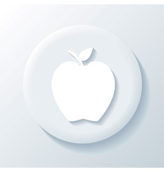 Apple 3D Paper Icon vector image vector image