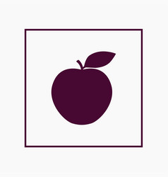 apple icon simple fruit vector image