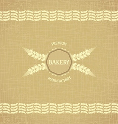 Background template for bakery vector
