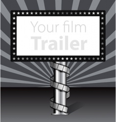 billboard with film strip illustration vector image vector image