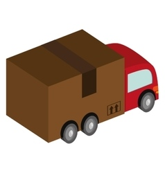 box truck icon vector image